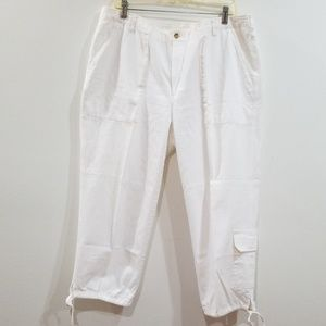 Paradox vintage 16W white cargo cropped pants